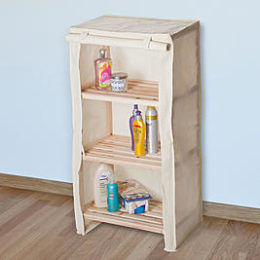 Sears – Lavish Home Lavish Home Three Tier Light Wood Shelf With Removable Cover Only $29.87 (Reg $42.99) + Free Store Pickup