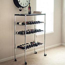 Sears – Lavish Home Lavish Home Rolling Chrome Wine Rack Cart Portable Bar Only $90.77 (Reg $137.99) + Free Shipping