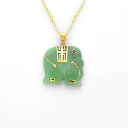 Sears – Gold over Sterling Silver Dyed Green Jade and Ruby Elephant Pendant Only $31.24 (Reg $124.99) + Free Store Pickup