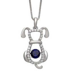 Sears –  Dancing Created Blue Sapphire & surrounded by Created White Sapphire Dog Pendant in a Sterling Silver Only $26.24 (Reg $174.99) + Free Store Pickup