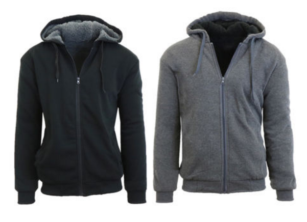 Ebay – Mens New Sherpa Lined Fleece Zip-Up Hoodie Only $16.99 (Reg $39.99)