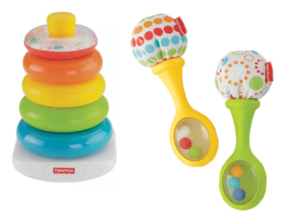 Fisher-Price Baby's 1st Blocks Rock-A-Stack or Rattle 'n Rock Maracas Only $3.73 at Kohl's + Free Store Pickup!