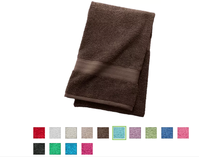 Kohl's – The Big One Solid Bath Towel Only $2.54 (Reg $9.99) + Free Store Pickup!