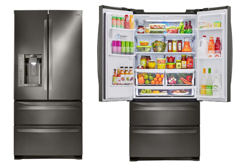 Home Depot – Smudge Resistant 26.8 cu. ft. French Door Refrigerator in Black Stainless Steel Only $1528 (Reg $2999)