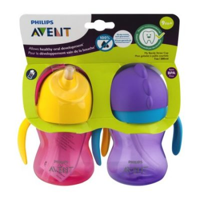 Walmart – Philips Avent My Bendy Straw Cup – 2 CT Only $7.99 (Reg $8.99) + Free Store Pickup