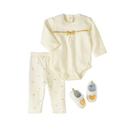Walmart – Bon Bebe Newborn Girl Bodysuit, Pants & Sneaker, 3pc Outfit Set Only $7.00 (Reg $15.97) + Free Store Pickup