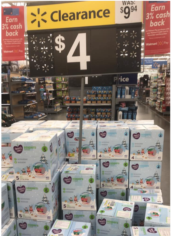 Walmart – Parents Choice Boxed Diapers On Clearance For Only $3.97, Reg $9.94 (Instore Only)