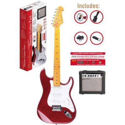 Walmart – Spectrum AIL 278C Red ST Style Electric Guitar Pack with 10 Watt Amp and Gig Bag Only $109.95 (Reg $159.95) + Free Shipping