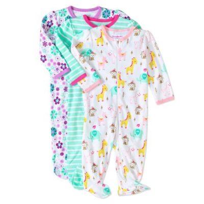 Walmart – Garanimals Newborn Baby Girls' Inverted Zipper Sleep 'N Play, 3-Pack Only $10.00 (Reg $11.97) + Free Store Pickup
