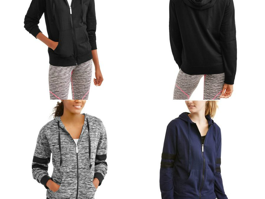 Walmart – Athletex Women's French Terry Full Zip Hoodie With Mesh Inserts Only $6.50 (Reg $15.96) + Free Store Pickup
