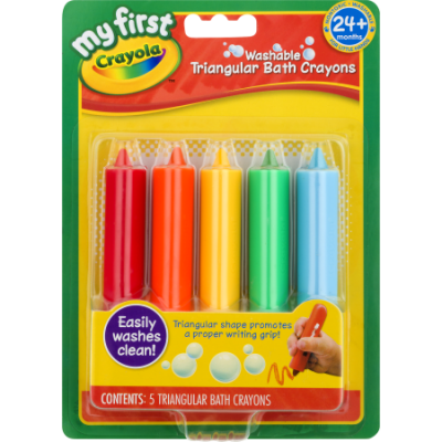 Walmart – My First Crayola Washable Triangular Bath Crayons, 5 Count Only $4.97 (Reg $6.02) + Free Store Pickup