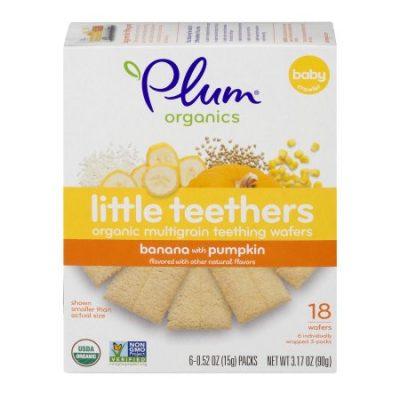 Walmart – Plum Organics Little Teethers Multigrain Wafers Banana with Pumpkin – 18 CT0.52 OZ Only $3.48 (Reg $4.38) + Free Store Pickup