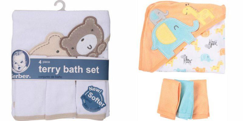Walmart – Gerber Newborn Baby Unisex Towel and Washcloths Bath Gift Set, 4-Piece Only $6.00 (Reg $8.24) + Free Store Pickup