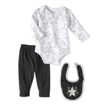 Walmart – Bon Bebe Newborn Boy Bodysuit, Pants & Bib, 3pc Outfit Set Only $3.00 (Reg $10.97) + Free Store Pickup