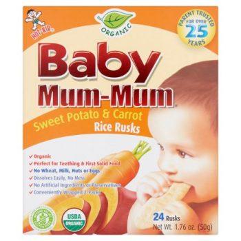 Walmart – Hot-Kid Baby Mum-Mum Organic Sweet Potato & Carrot Rice Rusks, 24 count, 1.76 oz Only $3.24 (Reg $4.11) + Free Store Pickup