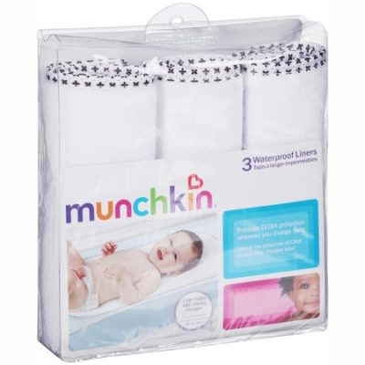 Walmart – Munchkin Waterproof Changing Pad Liners, 3-Pack Only $6.99 (Reg $8.39) + Free Store Pickup