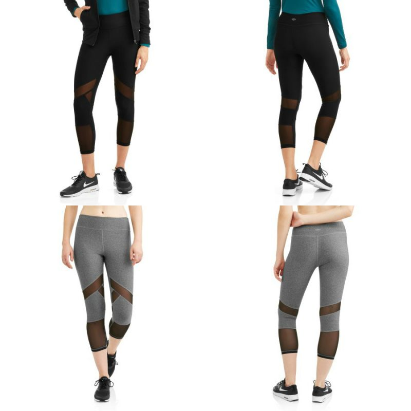 Walmart – N.Y.L. Sport Women's Active Spliced Mesh Performance Capri Legging Only $9.00 (Reg $14.96) + Free Store Pickup