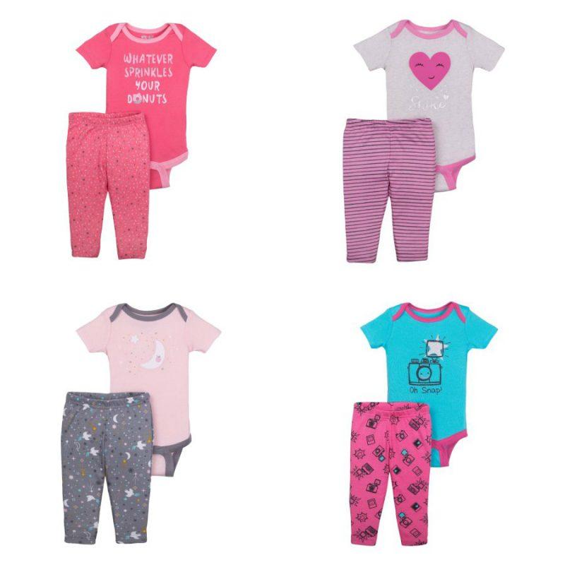 Walmart – Little Star Organic Newborn Baby Girl Bodysuit & Pant 2pc Outfit Set Only $6.00 (Reg $7.94) + Free Store Pickup
