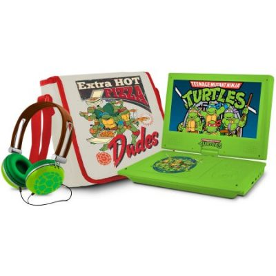 Walmart – Teenage Mutant Ninja Turtles 7″ Portable DVD Player with Carrying Bag and Headphones Only $57.10 (Reg $79.99) + Free 2-Day Shipping