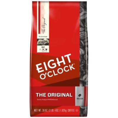 Walmart –  Eight O'Clock® The Original Whole Bean Coffee 36 oz. Bag Only $10.66 (Reg $14.98) + Free Store Pickup