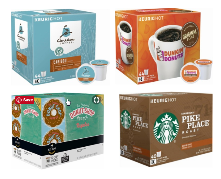 Bestbuy.com – K-Cups 40-48ct Packs ONLY $19.99 – Starbucks, Caribou, Dunkin Donuts, Donut Shop and Lots More