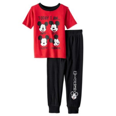 Walmart – Mickey Mouse Baby Toddler Boys' Short Sleeve Tight Fit Pajamas 2-Piece Set Only $7.00 (Reg $9.97) + Free Store Pickup