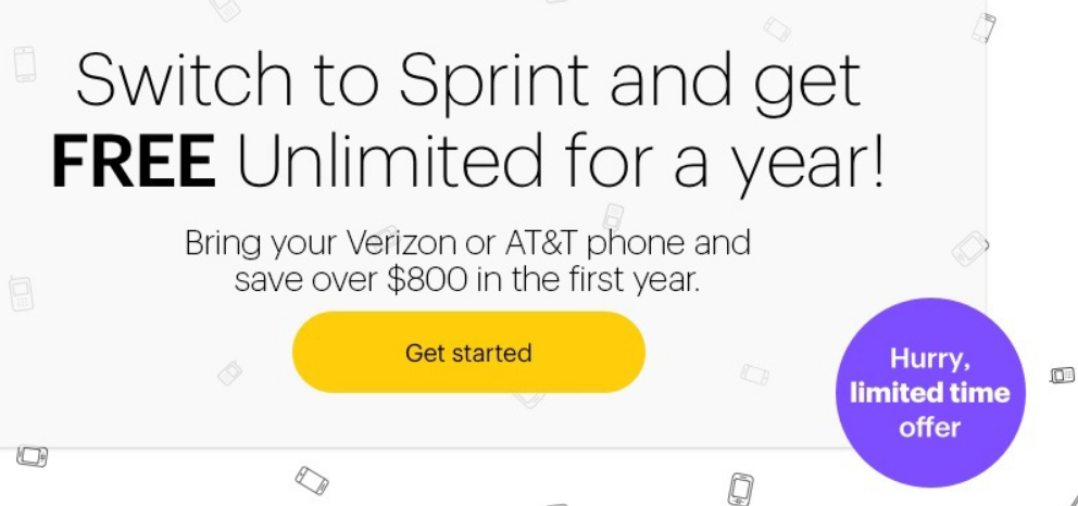 Sprint – Bring Your Own Data – FREE 1-Year Unlimited Talk, Text & Data