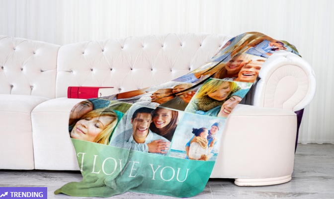 Personalized Medium 30″ x 40″ Polar Fleece Blanket Only $3.74 – GREAT GIFT IDEA!