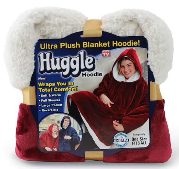 TODAY ONLY! As Seen on TV Huggle Blanket Hoodie Only $12.74, Reg $49.99 at Kohl's