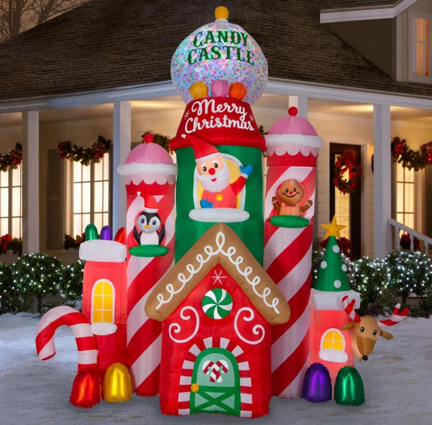Lowe's – 50% Off Christmas Clearance – 4-ft Lighted Santa Christmas InflatableOnly $9.99, Reg $19.98!