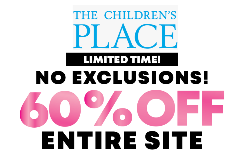 The Children's Place – 60% Off Sitewide + Free Shipping!