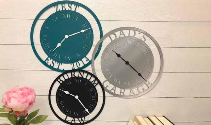 Groupon – One 11.5″ Personalized Laser Cut Steel Clock Only $18.74 (50% Off), Reg $49.95