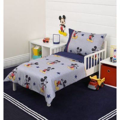Walmart – Mickey Mouse 90th Birthday 4-Piece Toddler Bed Set Only $33.99 (Reg $39.99) + Free Store Pickup