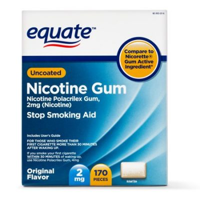 Walmart – Equate Uncoated Nicotine Gum Only $32.98 (Reg $44.92) + Free Store Pickup