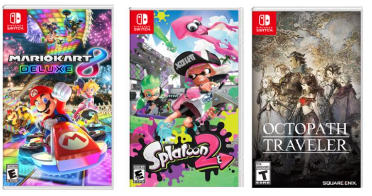 GameStop.com – Nintendo Switch Digital Download Games Only $42.00 – Splatoon 2, Mario Kart 8 Deluxe & More