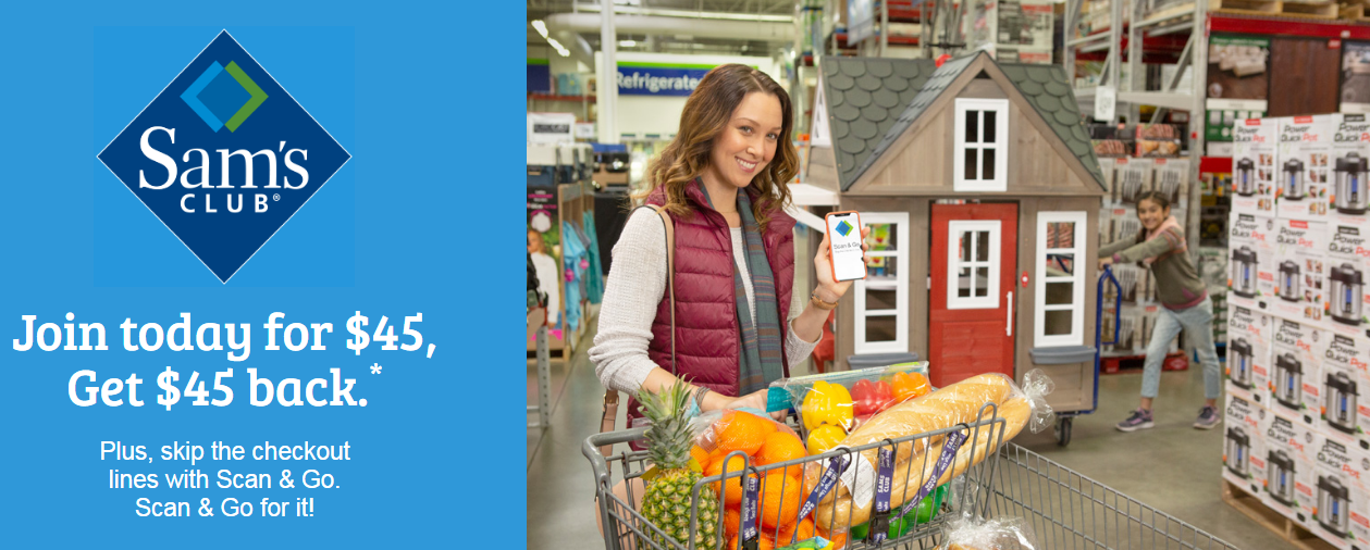 Sam's Club Membership Only $45 + Get $45 Instant Savings (New Members Only!)