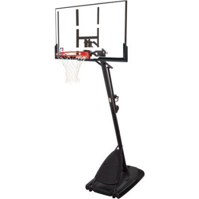 Walmart – Spalding 54″ Portable Angled Basketball Hoop with Polycarbonate Backboard Only $174.99 (Reg $239.99) + Free 2-Day Shipping