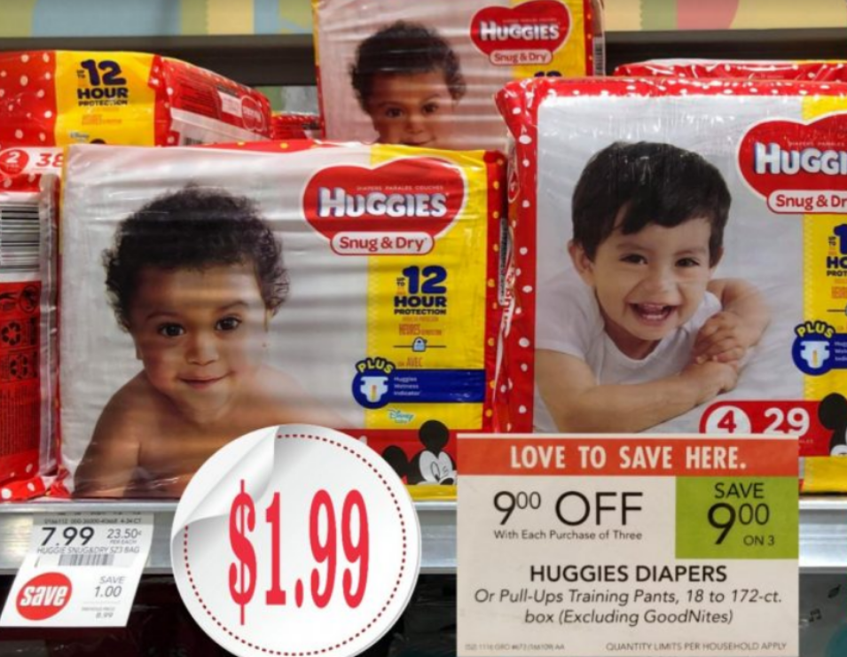 Huggies Snug & Dry Diapers Only $1.99 a Pack at Publix