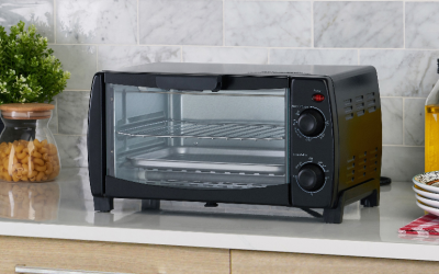 Walmart – Mainstays 4-Slice Black Toaster Oven Only $19.88 (Reg $22.75) + Free Store Pickup