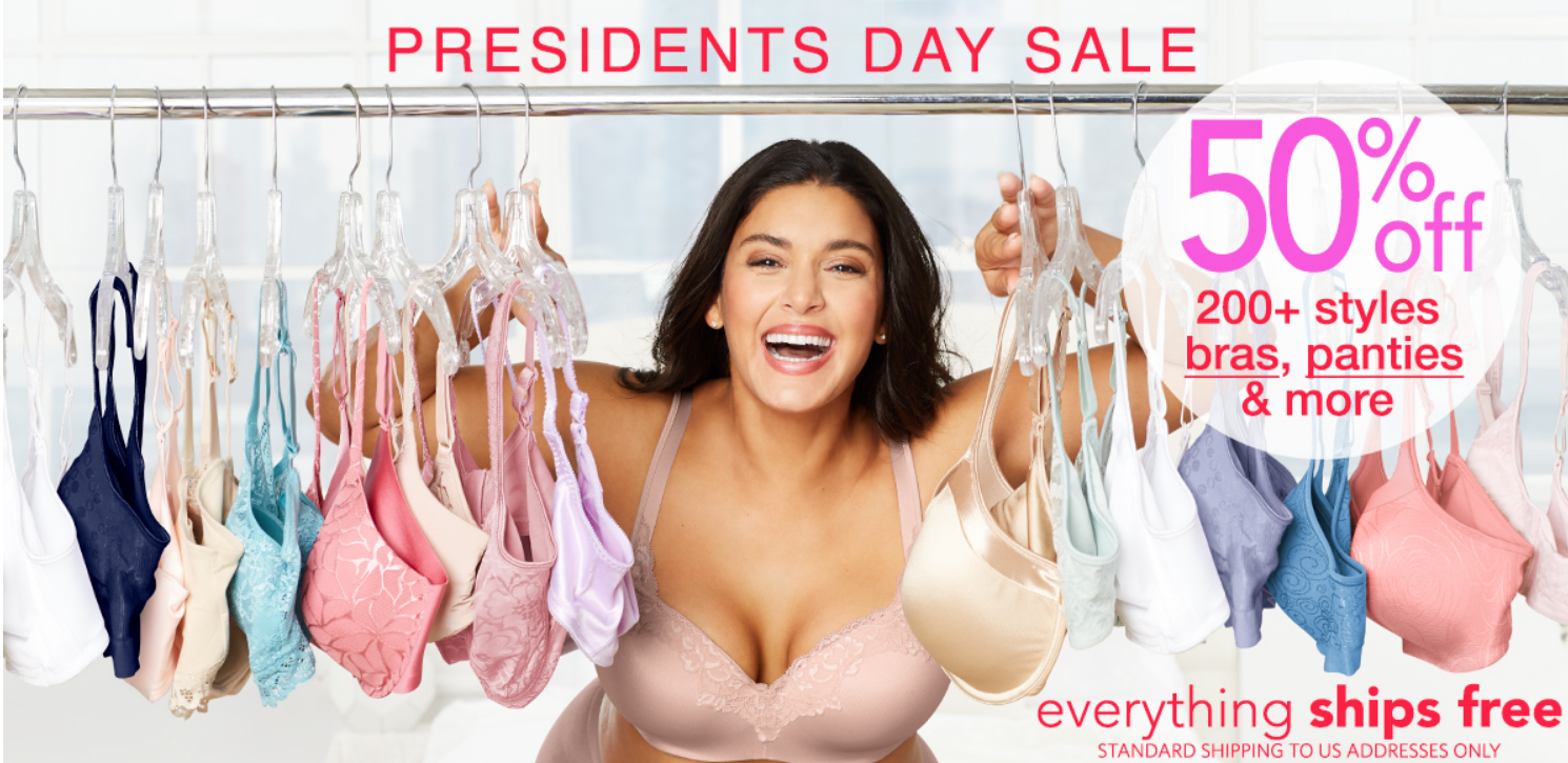 OneHanesPlace.com – 50% Off Bali, Playtex and Maidenform Panties and Bra's + $15 Off $65 Purchase + Free Shipping!