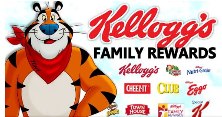Kellogg's Family Rewards – Free 100 Point Code + An Additional Free 100 Points For New Members