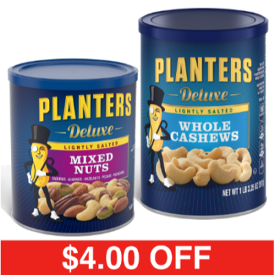 Walmart – Planters Lightly Salted Deluxe Whole Cashews + Mixed Nuts Only $13.58 (Reg $17.58) + Free 2-Day Shipping
