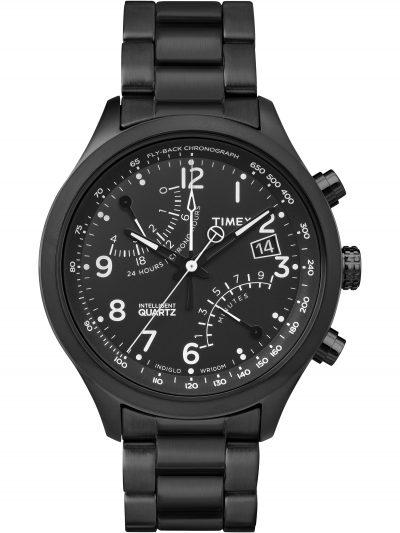 Walmart – Timex  Men's Intelligent Quartz Fly-Back Chronograph Black Watch Only $79.99 (Reg $225.00) + Free 2-Day Shipping