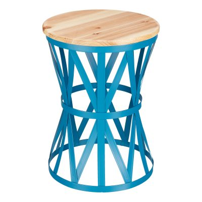 Walmart – Mainstays Forset 18″ Teal Metal Garden Stool with Wood Top Only $37.00 (Reg $41.11) + Free 2-Day Shipping