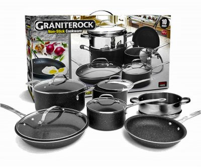 Walmart – GraniteRock 10-Piece Non-Stick Ultra Durable Only $99.00 (Reg $109.99) + Free 2-Day Shipping