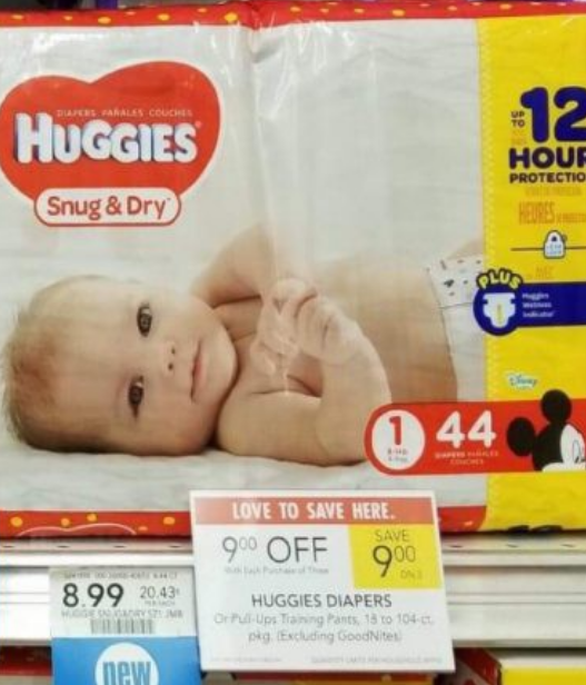 Publix – Huggie's Diapers As Low As $3.99 a Pack (Print Your Coupons Now!)