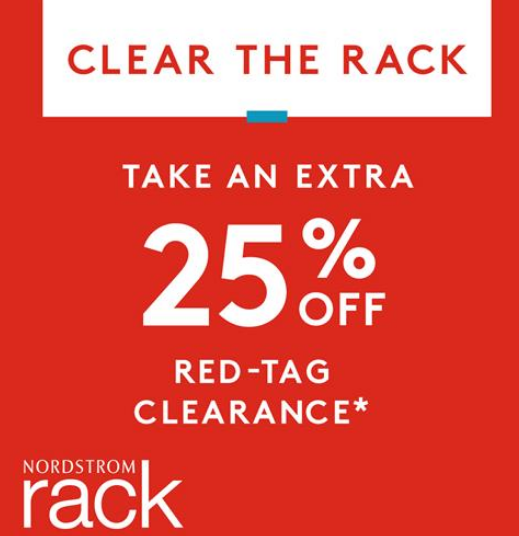 Nordstrom Rack – Clear The Rack Event Sale = Extra 25% Off Clearance Items