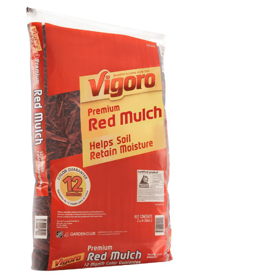 HomeDepot.com – 2 cu. ft. Red Mulch Only $1.66, Reg $2.50 + Free Store Pickup!