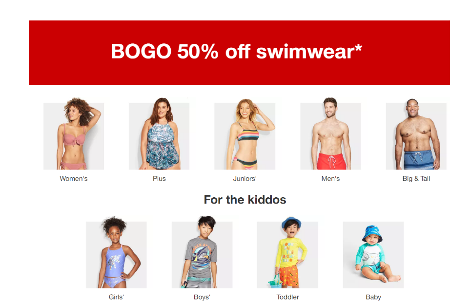 Target – BOGO 50% Off Swimwear For The Whole Family