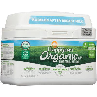 Walmart – Happy Baby Organics Organic Stage 2 Milk Based Powder with Iron Infant Formula Only $28.04 (Reg $29.99) + Free Store Pickup